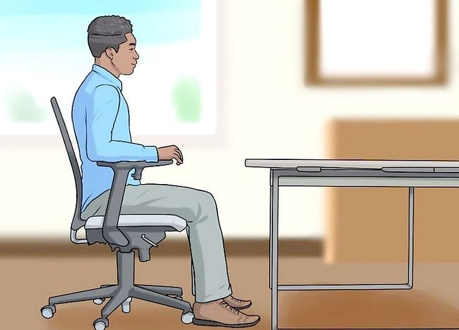 Imagine intitulată Reglați înălțimea scaunului pentru birou Pasul 1