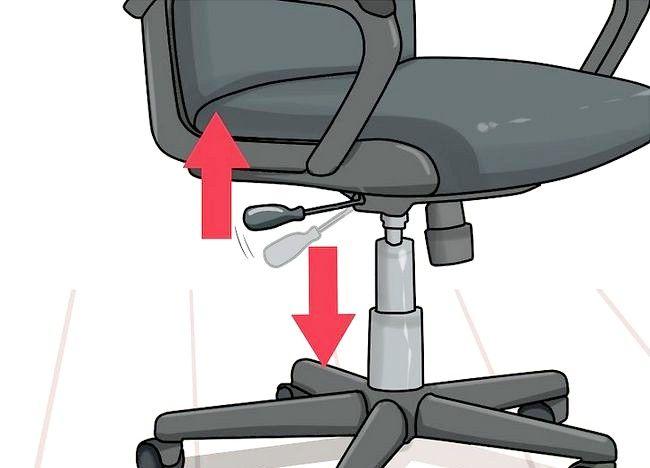 Imagine intitulată Reglați înălțimea scaunului de birou Pasul 3