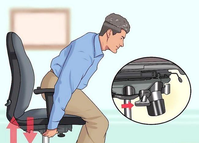 Imagine intitulată Reglați înălțimea scaunului pentru birou Pasul 6