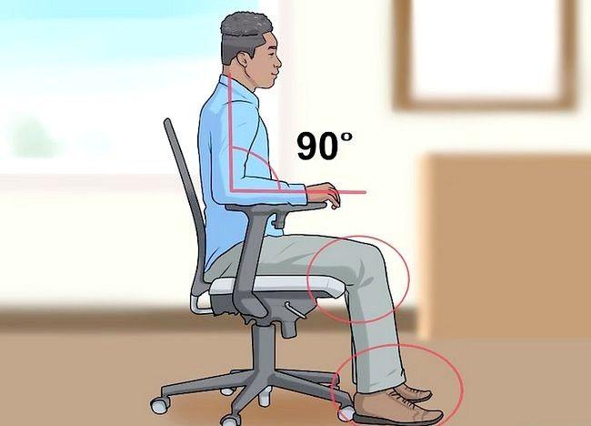 Imagine intitulată Reglați înălțimea scaunului pentru birou Pasul 8