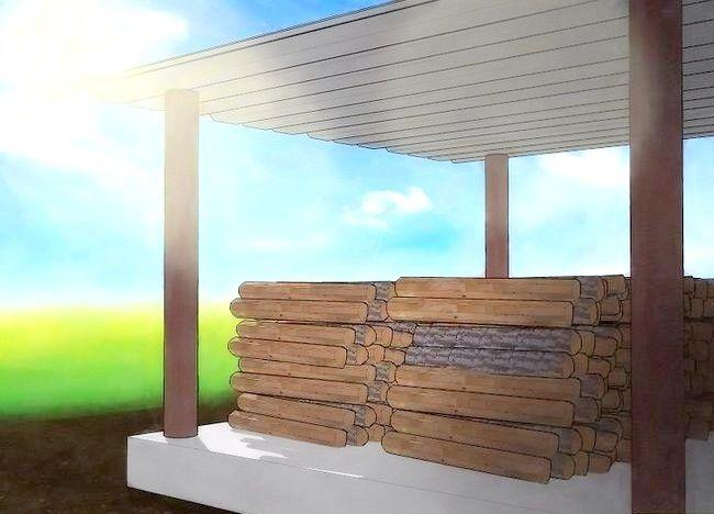 Cum se păstrează lemnul de foc