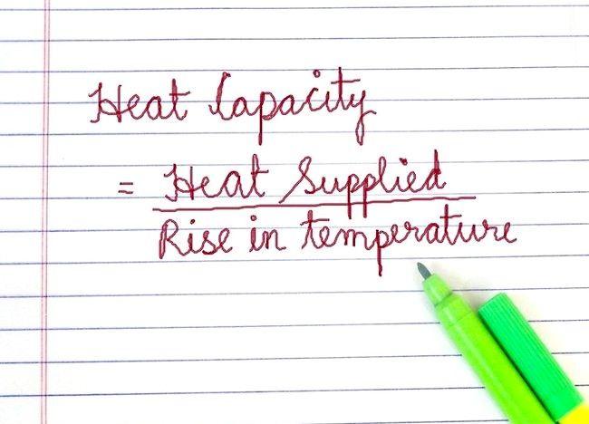 Cum se calculează capacitatea termică