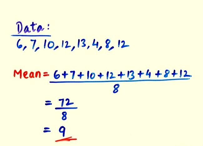 Cum se calculează valoarea medie a deviației standard