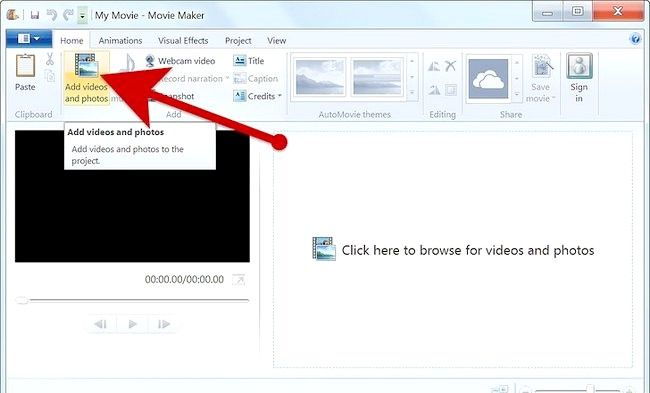 Imaginea intitulată Creați un album alb în Windows Movie Maker Pasul 3