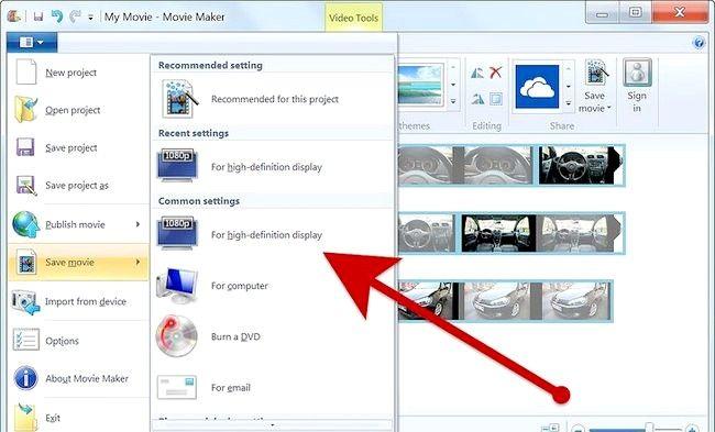 Imaginea intitulată Creați un album alb în Windows Movie Maker Pasul 8