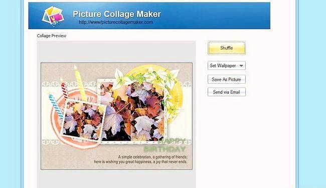 Imaginea intitulă Efectuați calendarul 2011 utilizând funcția de creare a imaginilor Collage Maker Pro Pasul 11