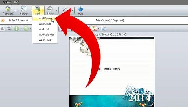 Imaginea intitulă Efectuați calendarul 2011 utilizând imaginea Collage Maker Pro Pasul 3