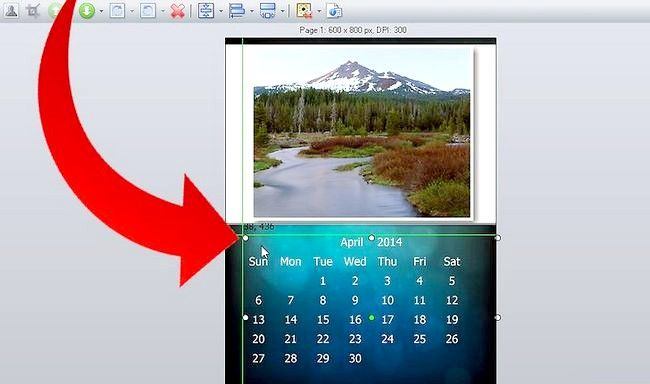 Imaginea intitulă Efectuați calendarul 2011 utilizând Picture Collage Maker Pro Pasul 5