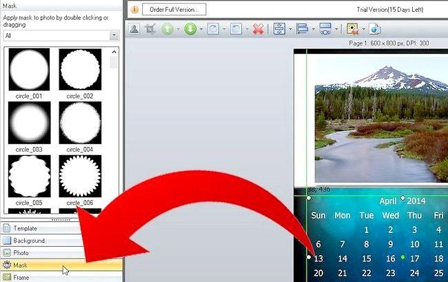 Imaginea intitulă Efectuați calendarul 2011 utilizând imaginea Collage Maker Pro Pasul 6