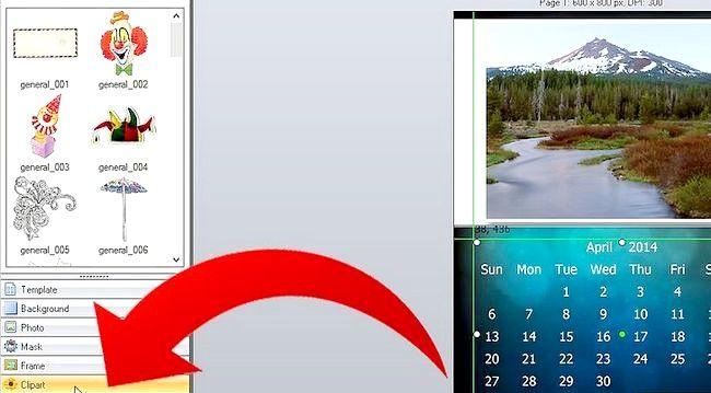 Imaginea intitulă Efectuați calendarul 2011 utilizând imaginea Collage Maker Pro Pasul 8