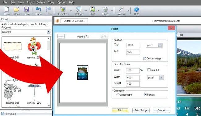 Imaginea intitulă Efectuați calendarul 2011 utilizând imaginea Collage Maker Pro Pasul 10