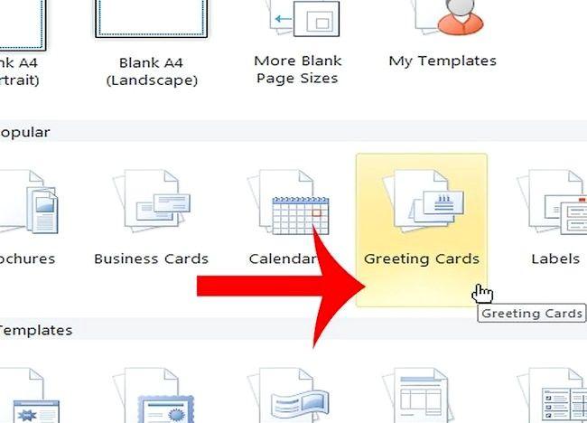 Imaginea intitulată Crearea unei cărți de Crăciun în Microsoft Publisher Pasul 1