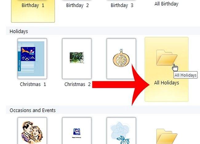 Imaginea intitulată Crearea unei cărți de Crăciun în Microsoft Publisher Step 2