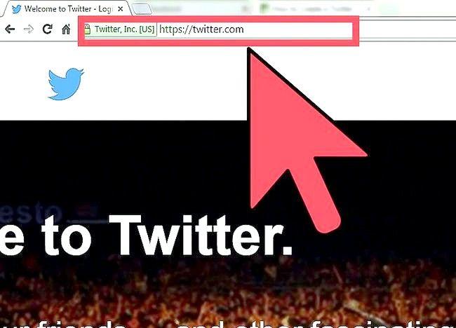 Imagine intitulată Crearea unui cont Twitter pentru o organizație Pasul 1