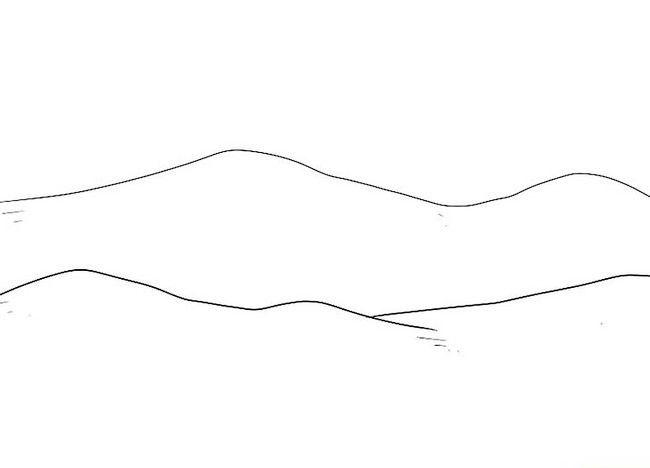 Imagine intitulată Desenează un peisaj de Crăciun Pasul 2