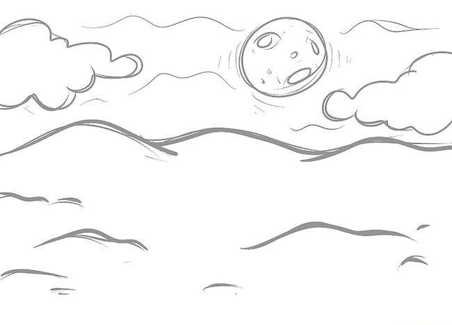 Imagine intitulată Desenează un peisaj de Crăciun Pasul 7