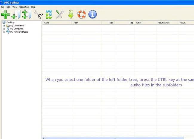 Imaginea intitulată Split fișiere MP3 utilizând Splitter MP3 Pasul 2