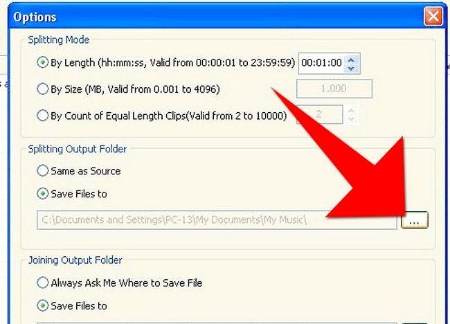 Imaginea intitulată Split fișiere MP3 utilizând Splitter MP3 Pasul 8