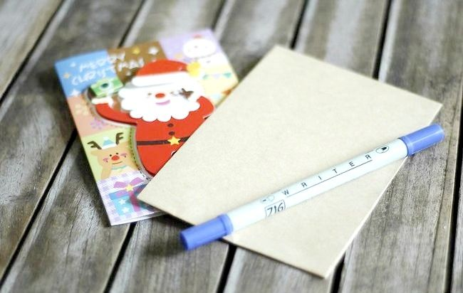 Imagine intitulată Adresă Cărți de Crăciun Plicuri Pasul 1