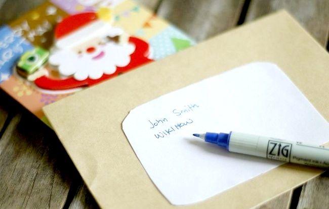 Imagine intitulată Adresă Cărți de Crăciun Plicuri Pasul 2