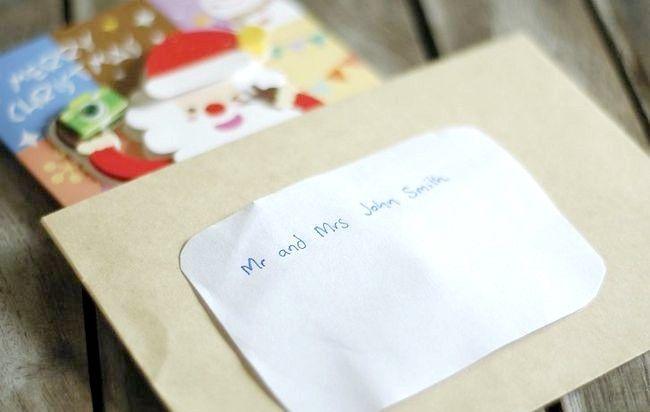 Imagine intitulată Adresă Cărți de Crăciun Plicuri Pasul 5