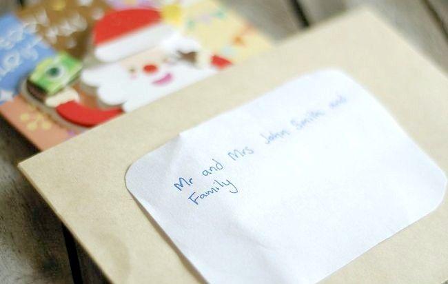 Imagine intitulată Adresă Cărți de Crăciun Plicuri Pasul 6