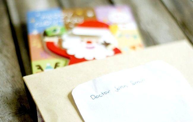 Imagine intitulată Adresă Cărți de Crăciun Plicuri Pasul 10