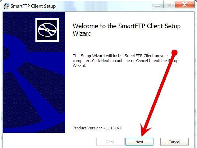 Imagine intitulată Încărcarea fișierelor pe un server FTP cu SmartFTP Pasul 3
