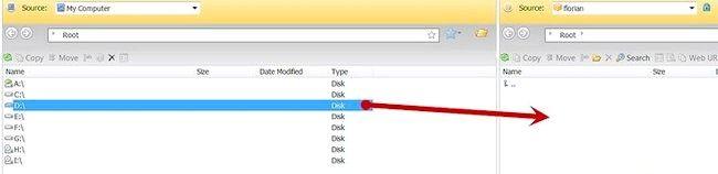 Imagine intitulată Încărcarea fișierelor pe un server FTP cu SmartFTP Pasul 6