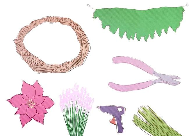 Imaginea intitulă Creați o coroană de sărbătoare Pasul 1