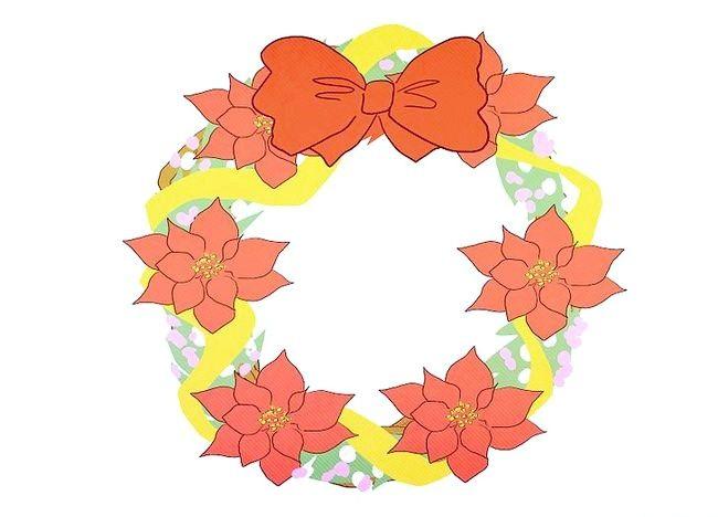 Imaginea intitulată Faceți o coroană de sărbătoare Pasul 7