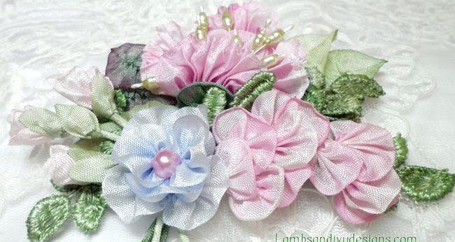Cum sa faci trandafiri de mătase, satin sau panglică