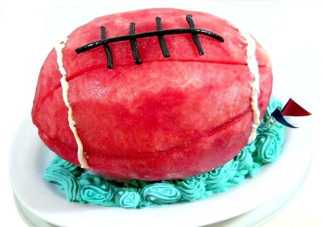 Imaginea intitulă Fă-ți un tort de fotbal pepene verde