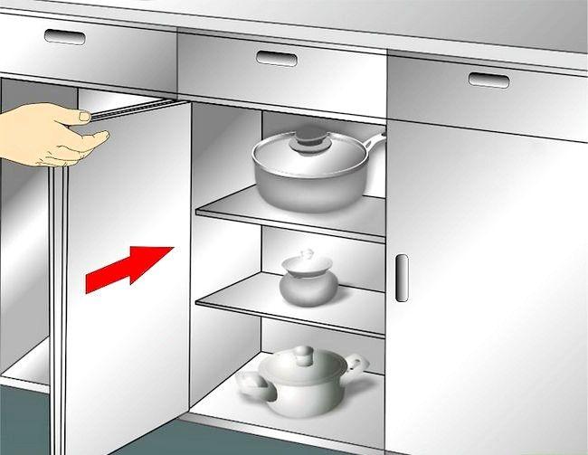 Imaginea intitulată Cabinete de bucătărie curate Pas 16 1