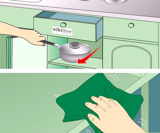 Imaginea intitulată Cabine de bucătărie curate. Pasul 10