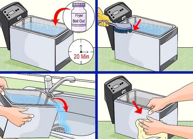 Imaginea intitulată Curățarea unei friteuze profunde Pasul 19