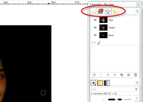 Imaginea intitulată Eyes red pe fotografii utilizând GIMP Pasul 3