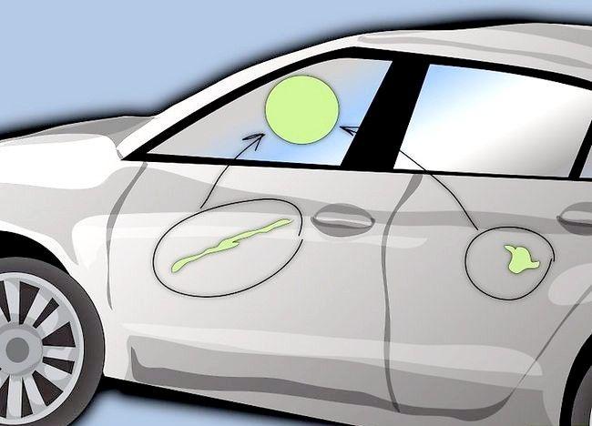 Imaginea intitulată Eliminați vopseaua care a fost uscată pe ușa mașinii Pasul 1