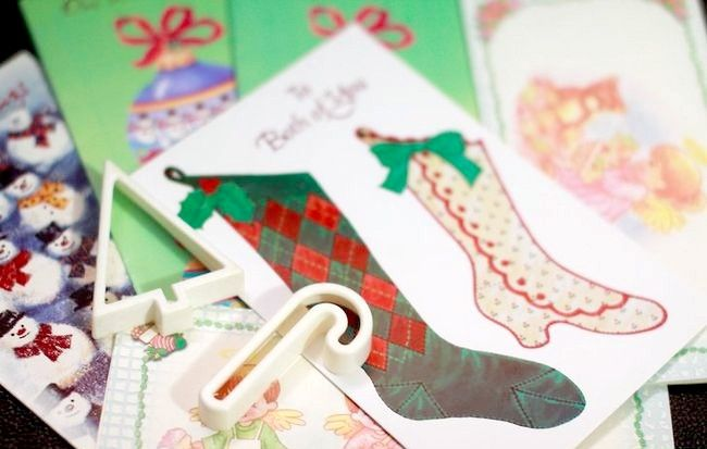 Imagine intitulată Recycle Christmas Cards Step 5
