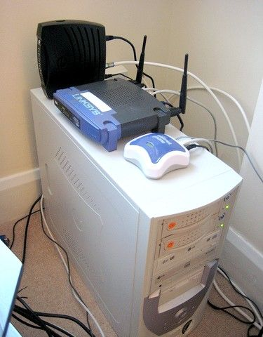 Imagine intitulată Rețea de domiciliu, cablu, linksys, voip, motorola