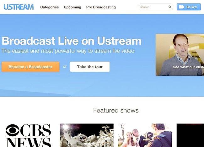 Cum să difuzați un program pe Internet prin Ustream