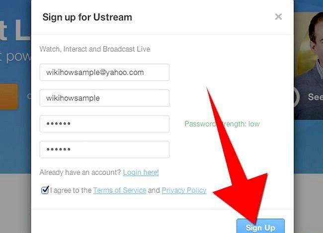 Imaginea intitulată Transmiteți o prezentare Web utilizând Ustream Step 1Bullet3