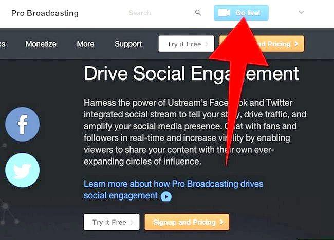 Imaginea intitulată Transmite o prezentare Web utilizând Ustream Step 3Bullet1