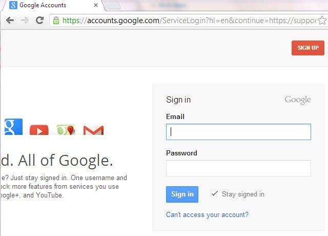 Imaginea intitulată Utilizați Google Sign In Multiple în Pasul 1