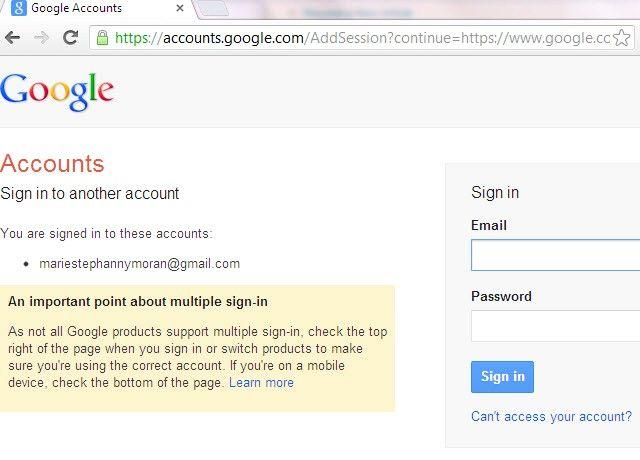 Imaginea intitulată Utilizați Conectarea Google multiple în Pasul 4