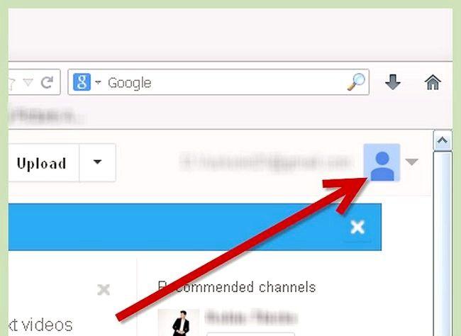 Utilizând o imagine ca fundal în profilul YouTube
